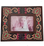 Art Deco Mosaic Frame in Black or Pearl