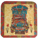 Cherry and Indigo Truck Coaster (set of 6)