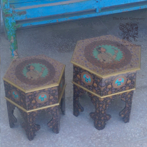 Ivory Mughal Nest tables