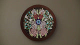 Orchid large evil eye mosaic wall art