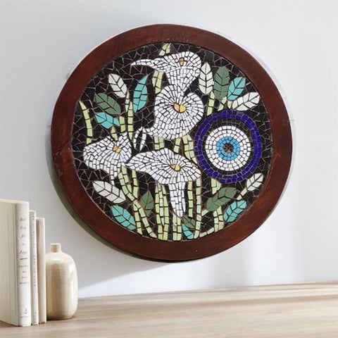 Iris large evil eye mosaic wall art