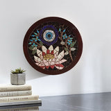 Lotus flower evil eye mosaic wall art