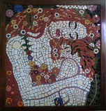 Mother and Child Klimt Mosaic