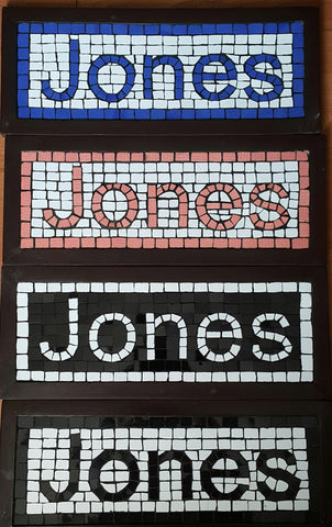 Mosaic Home Sign Nameplates Classic