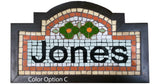 Parisian Style Mosaic Name Signs with Floral Design