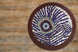 Peacock feather evil eye mosaic wall art