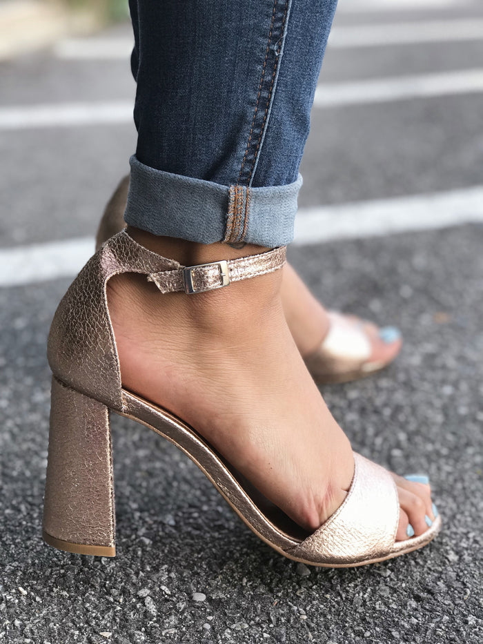 Rilee Rose Gold Metallic Heel