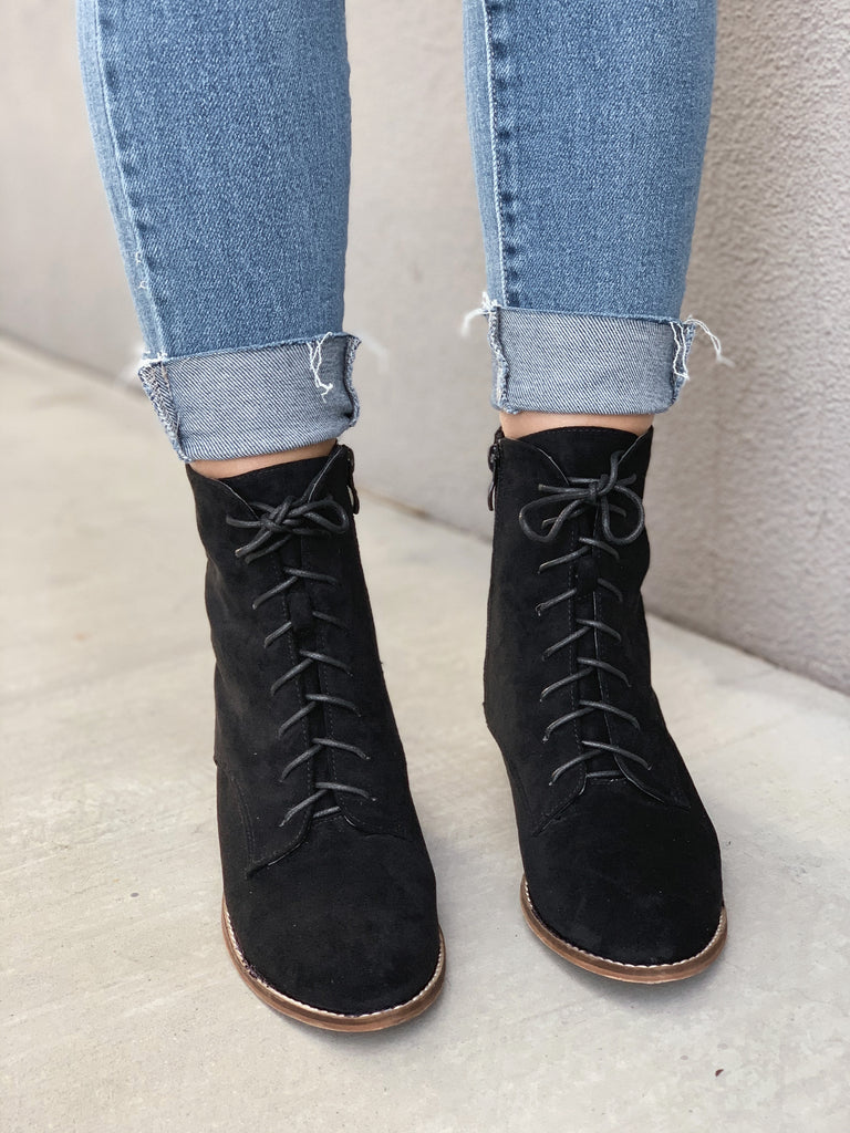 Tianna Lace Up Bootie