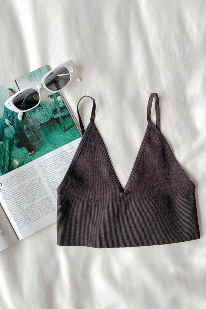 Polly Seamless Bralette - Black