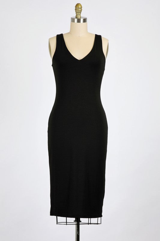 Josey Midi Dress - Black