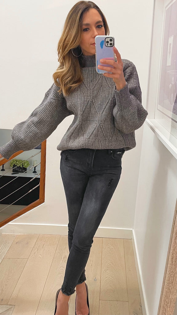 millie mock neck sweater