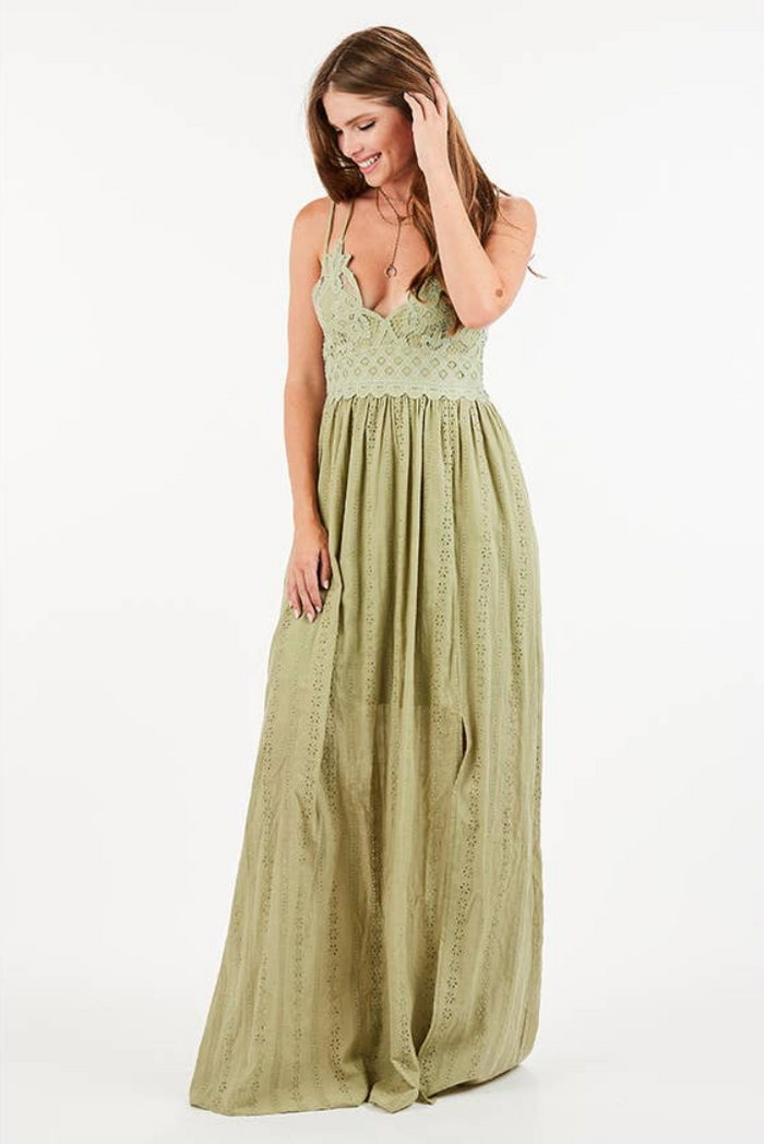 Laney Sage Maxi Dress