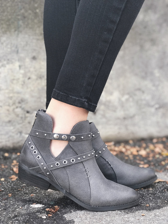 Taylor Charcoal Bootie