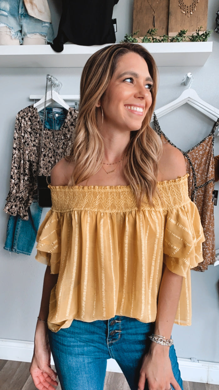 Ivana Yellow Blouse