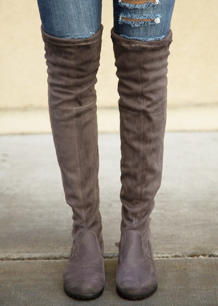 Jaden Over the Knee Boot - Grey