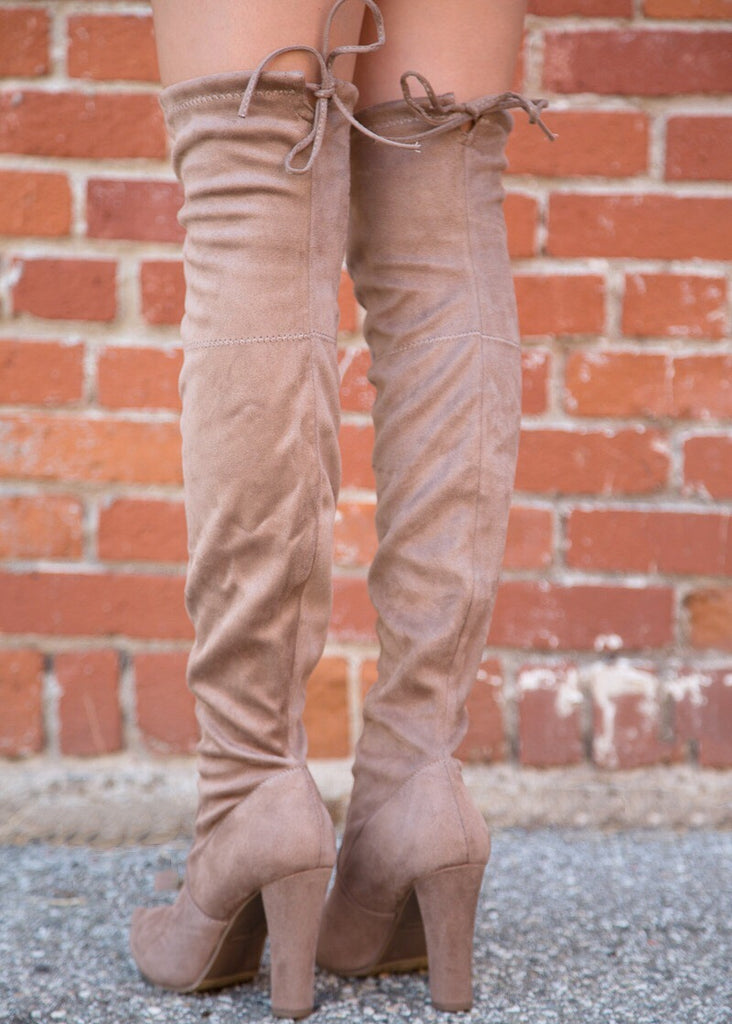 Danielle Over the Knee Boot - Taupe