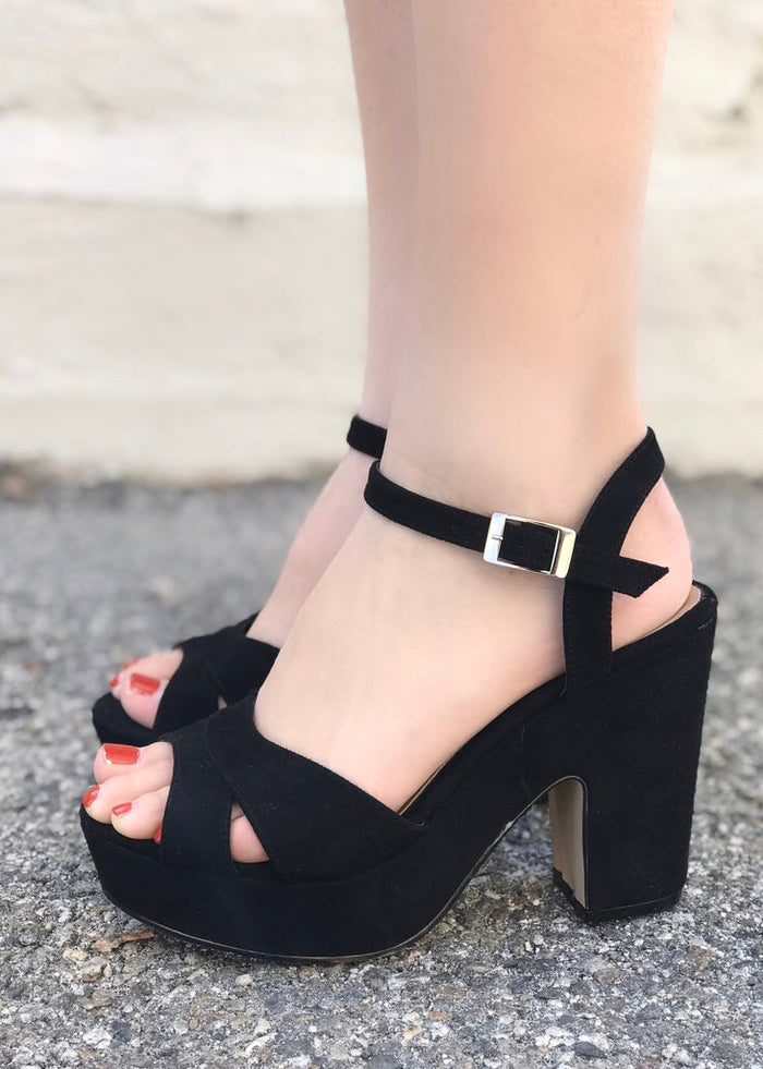 Sue Black Platform Heel