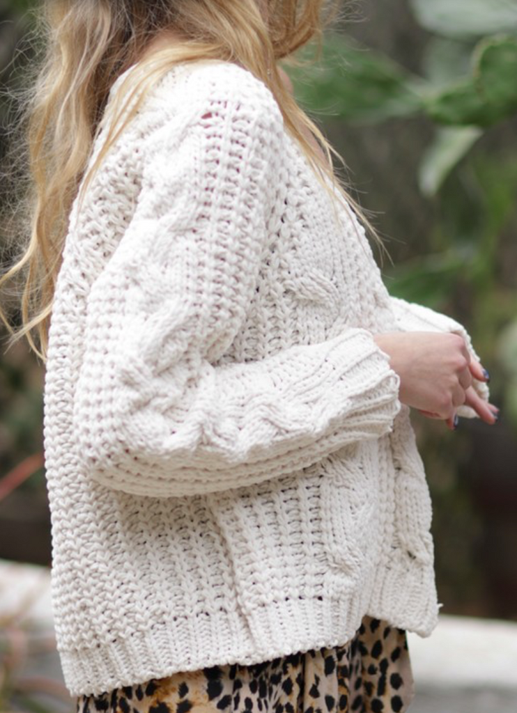 Ivy Cable Knit Cardigan