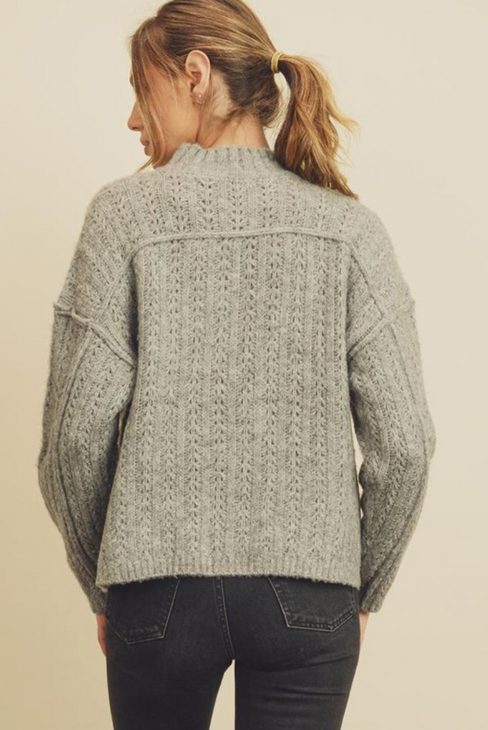nico mock neck sweater