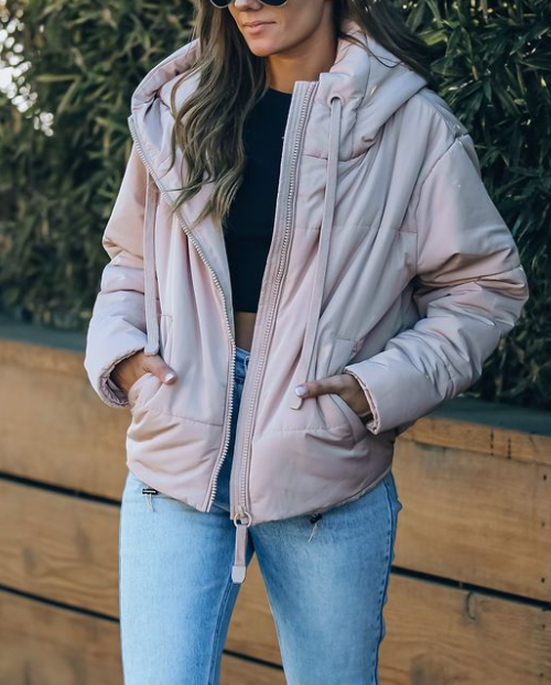 mammoth puffer jacket - blush