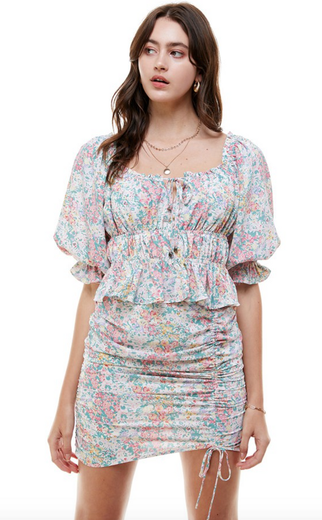 Gardens Floral Ruched Top