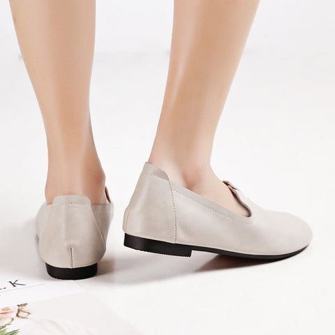 Casual Round Toe Flat Heel Loafers 7.5 Grey