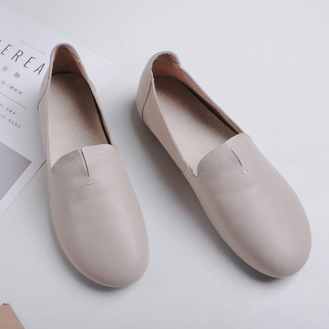 Casual Round Toe Flat Heel Loafers 6.5 Grey