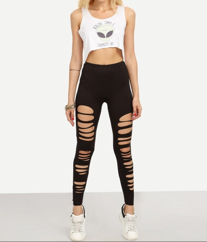 Cut Up In Love Leggings