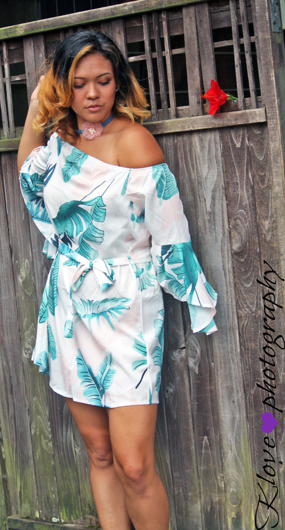 Ruffle My Feathers Tropical Dress
