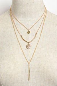 Ann Layered Charm Necklaces