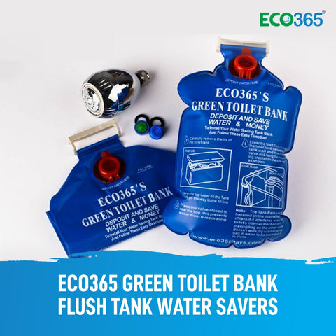 Eco365 Green Toilet Bank Flush Tank Water Savers