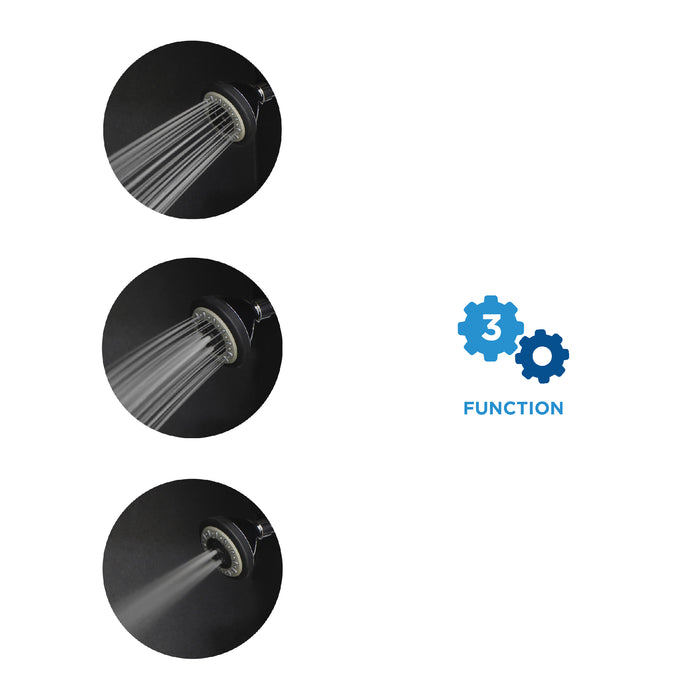 AirOxy 3 Function Shower Head Pack of 2 + 3 LPM Shower Flow Aerator Pack of 3 - Eco365