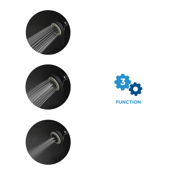 AirOxy 3 Function Shower Head Pack of 2 + 3 LPM Shower Flow Aerator Pack of 3