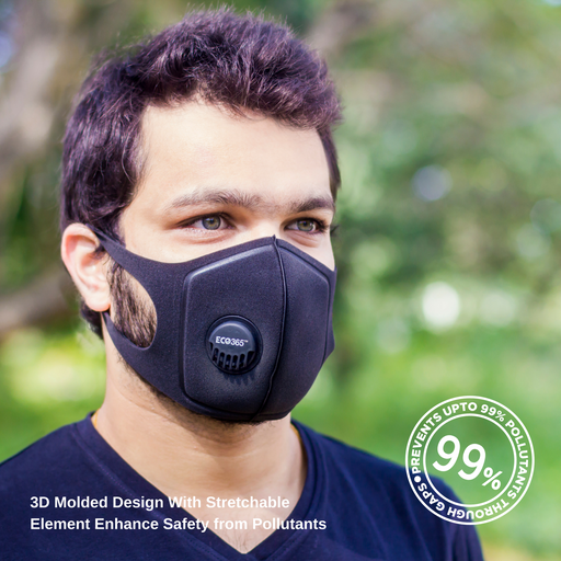UltraLite Activated Carbon Mask - Reusable + Washable Pack of 5