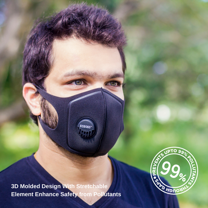UltraLite Activated Carbon Mask - Reusable + Washable Pack of 2