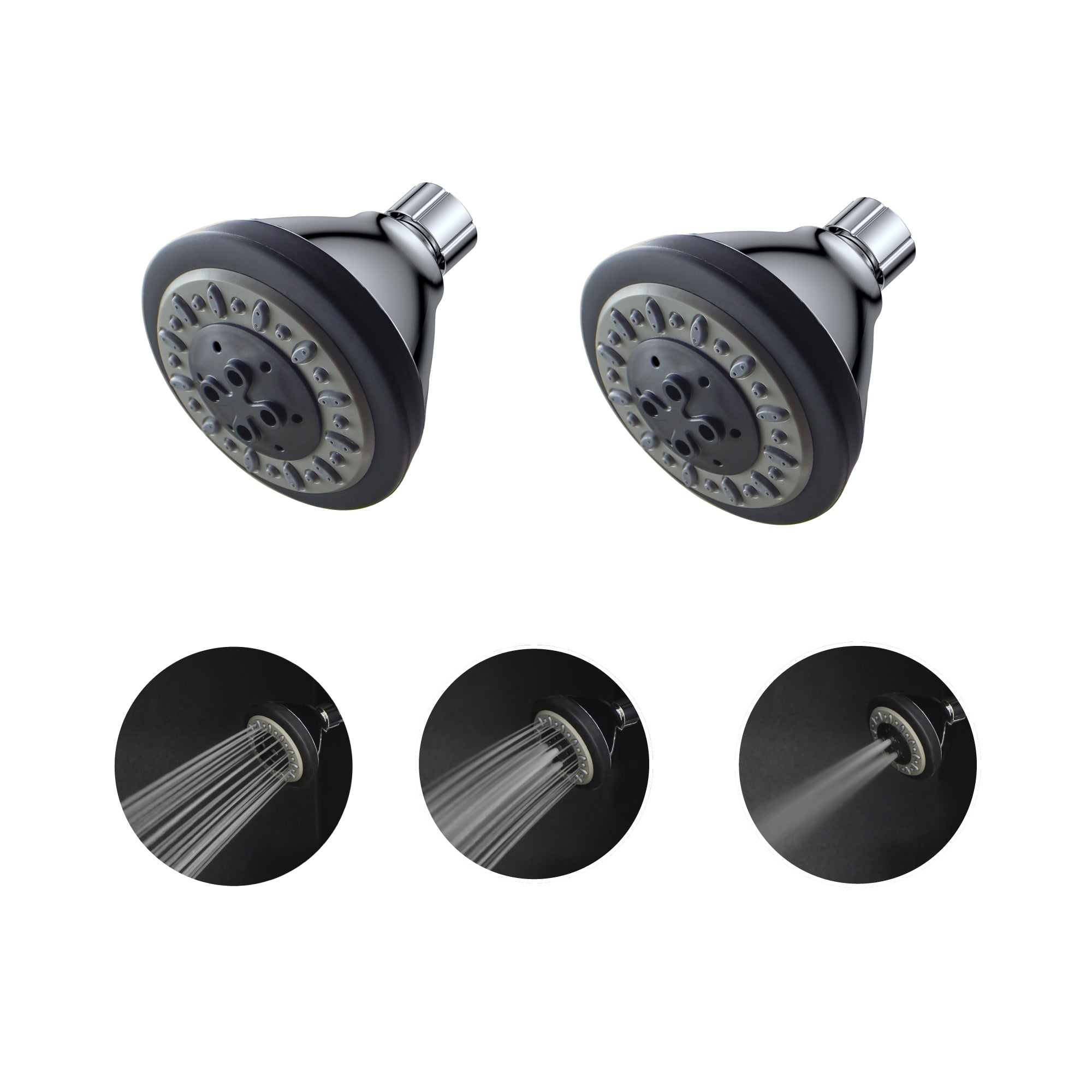 Eco365 3 Function shower heads pack of 2