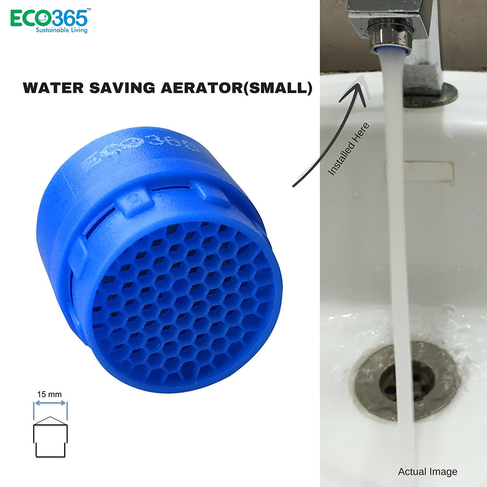 Water Saving Aerator(Small) by Eco365 - 4 LPM Foam Flow Tap Filter - Pack of 2 - Eco365