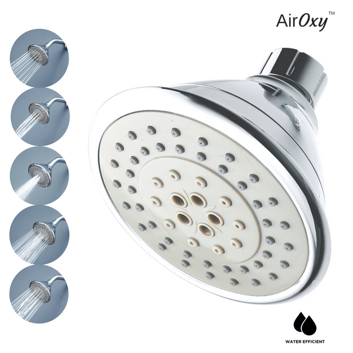 AirOxy Water Saving Shower Head 5 Flow in 1 - AO5R - Eco365