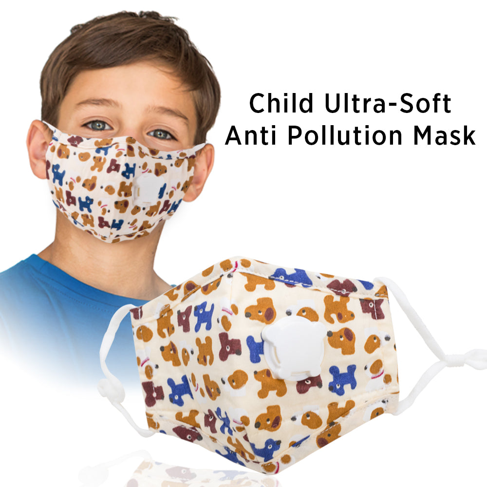 Child Mask Ultra Soft Anti Pollution Adjustable Mask - Eco365