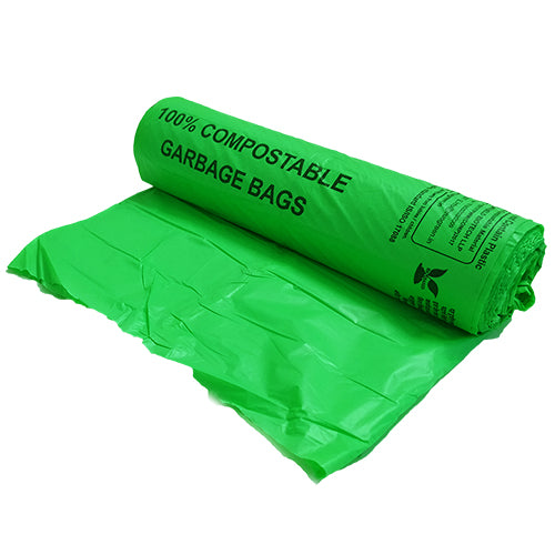 Compostable Garbage Bag, 17 X 19 Inches(Pack of 1, 30Pcs) - Eco365