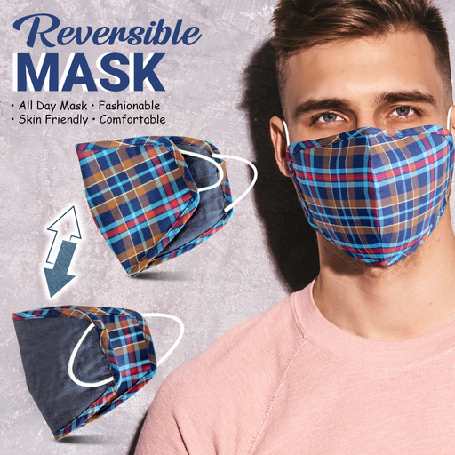 6Layered Reversible Denim Cotton Mask- Pack of 3 - Eco365
