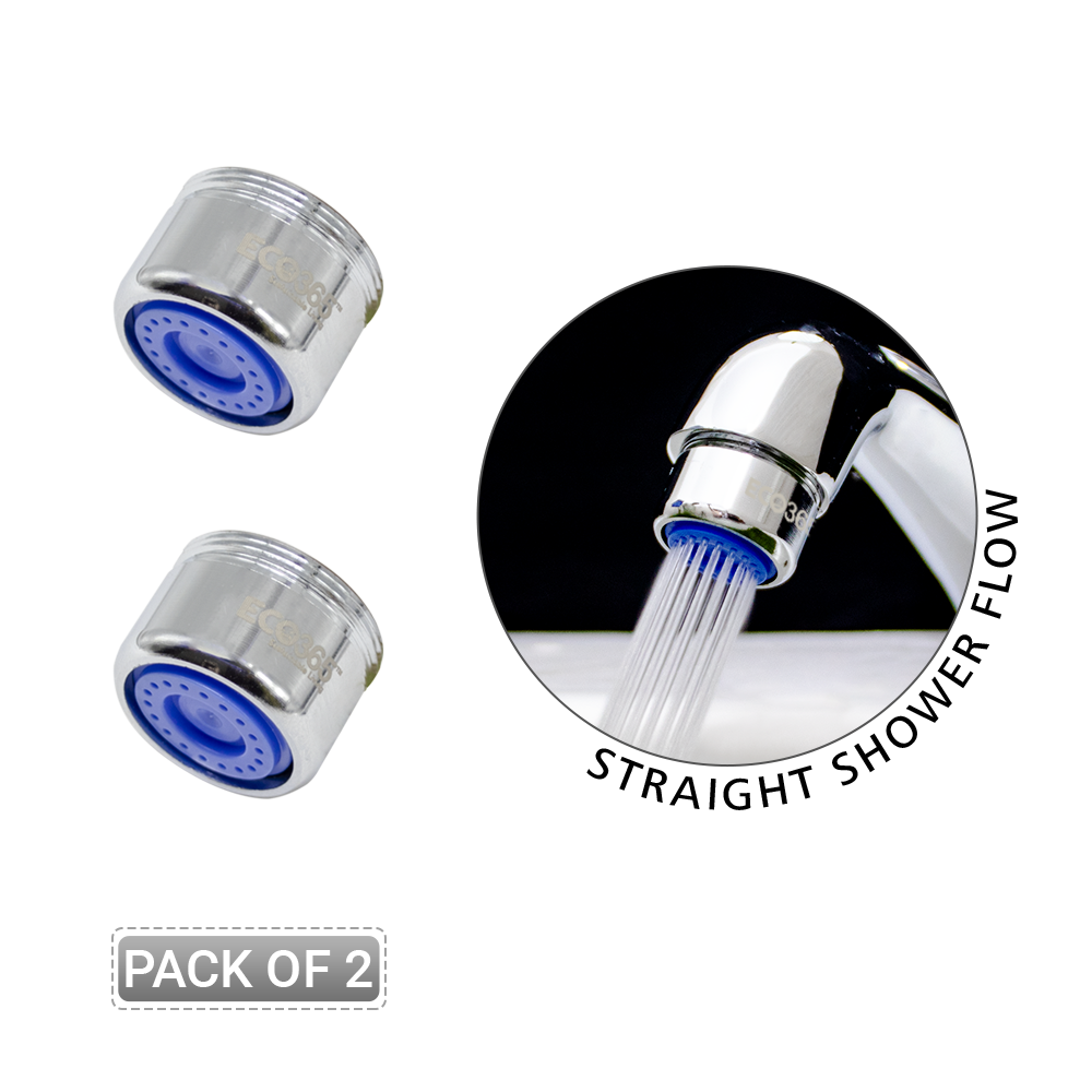 Dual Thread Aerator 3 LPM - Shower Flow - Pack of 2 - Eco365