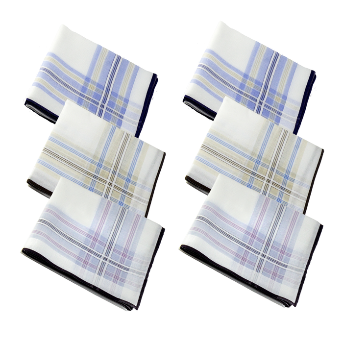 Slim Cotton Hankies - Colored Stripes (Pack of 6) - ECO365