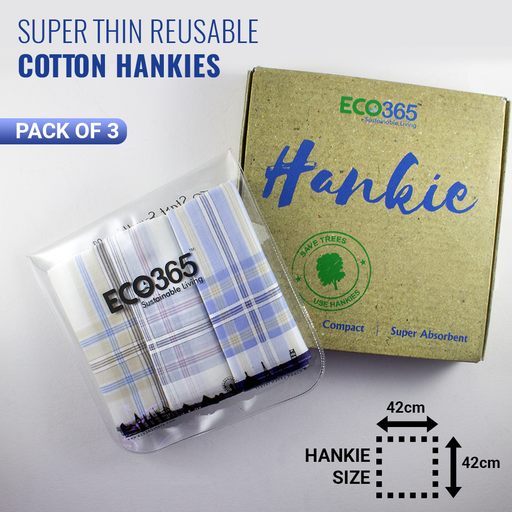 Slim Cotton Hankies - Colored Stripes (Pack of 3) - Eco365