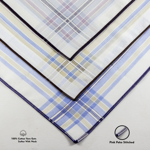 Slim Hankies Pack of 3 - Colored Stripes