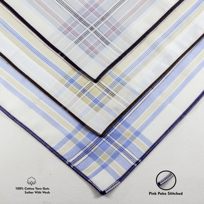Slim Hankies Pack of 12 - Colored Stripes