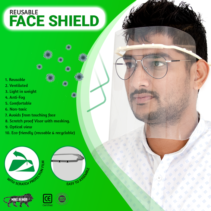 MDPS Flexi Band - Reusable Face Shield - Pack of 10 - Eco365