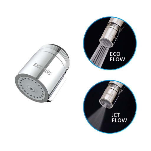 ECO365 Water Saving Switch Aerator With JET And ECO Flow- NEW LAUNCH for World Water Day - Eco365