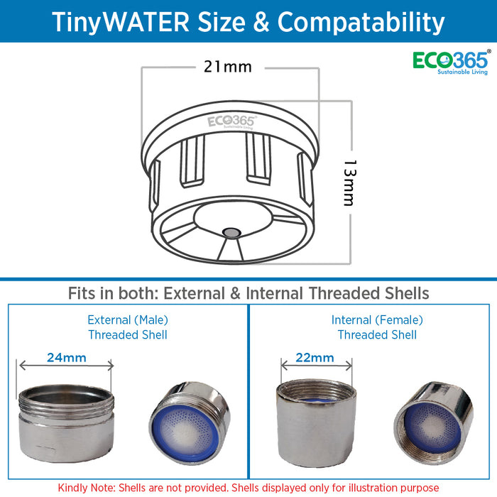 TINYWATER SAVERS: 98% LESS WATER (PACK OF 4)