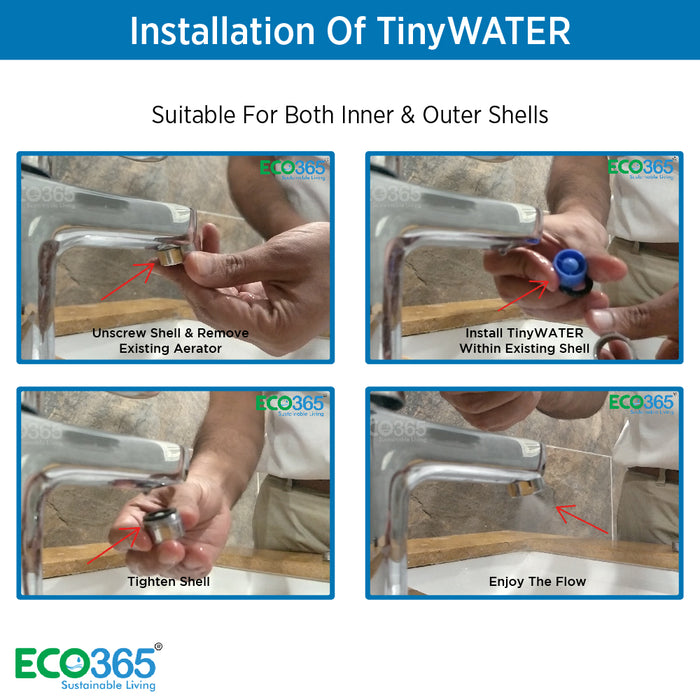 TINYWATER SAVERS: 98% LESS WATER (PACK OF 10) - Eco365